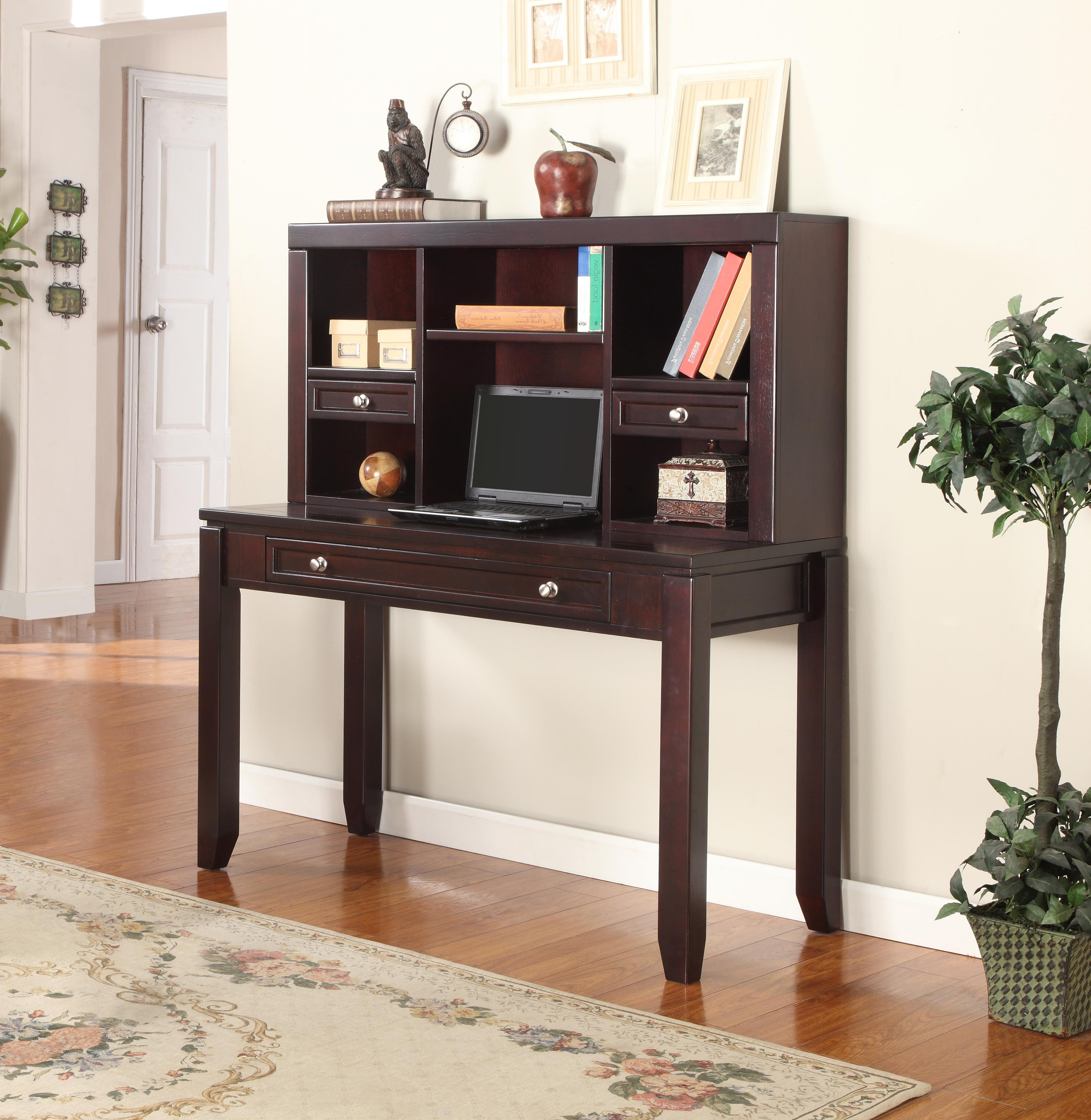 """Parker House Boston 47"""" Writing Desk and Hutch - Item Number: BOS-347D+347H"""