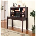 "Parker House Boston 47"" Writing Desk and Hutch - Item Number: BOS-347D+347H"
