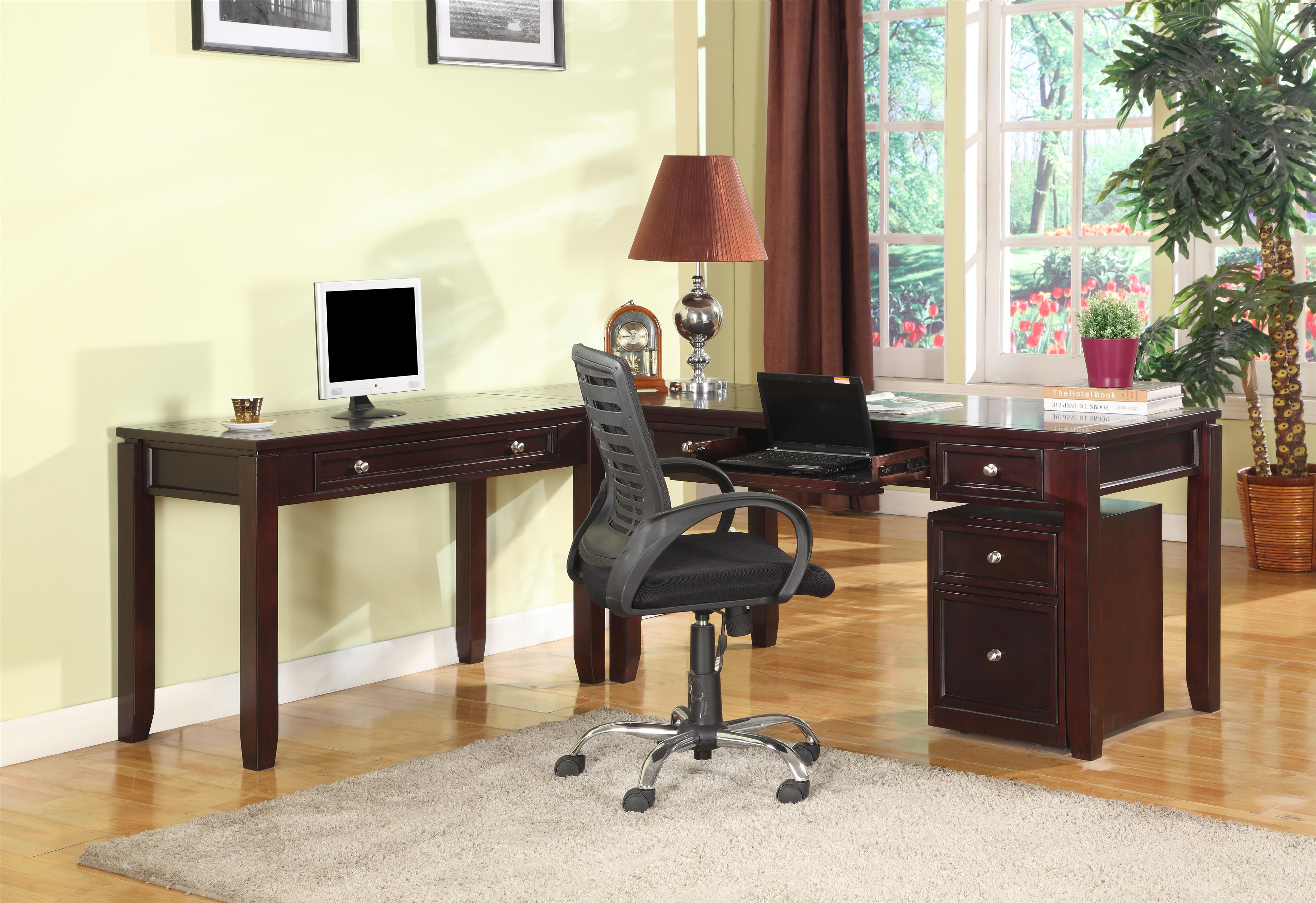Parker House Boston Three-Piece L-Shaped Desk - Item Number: BOS-347D+370+357D