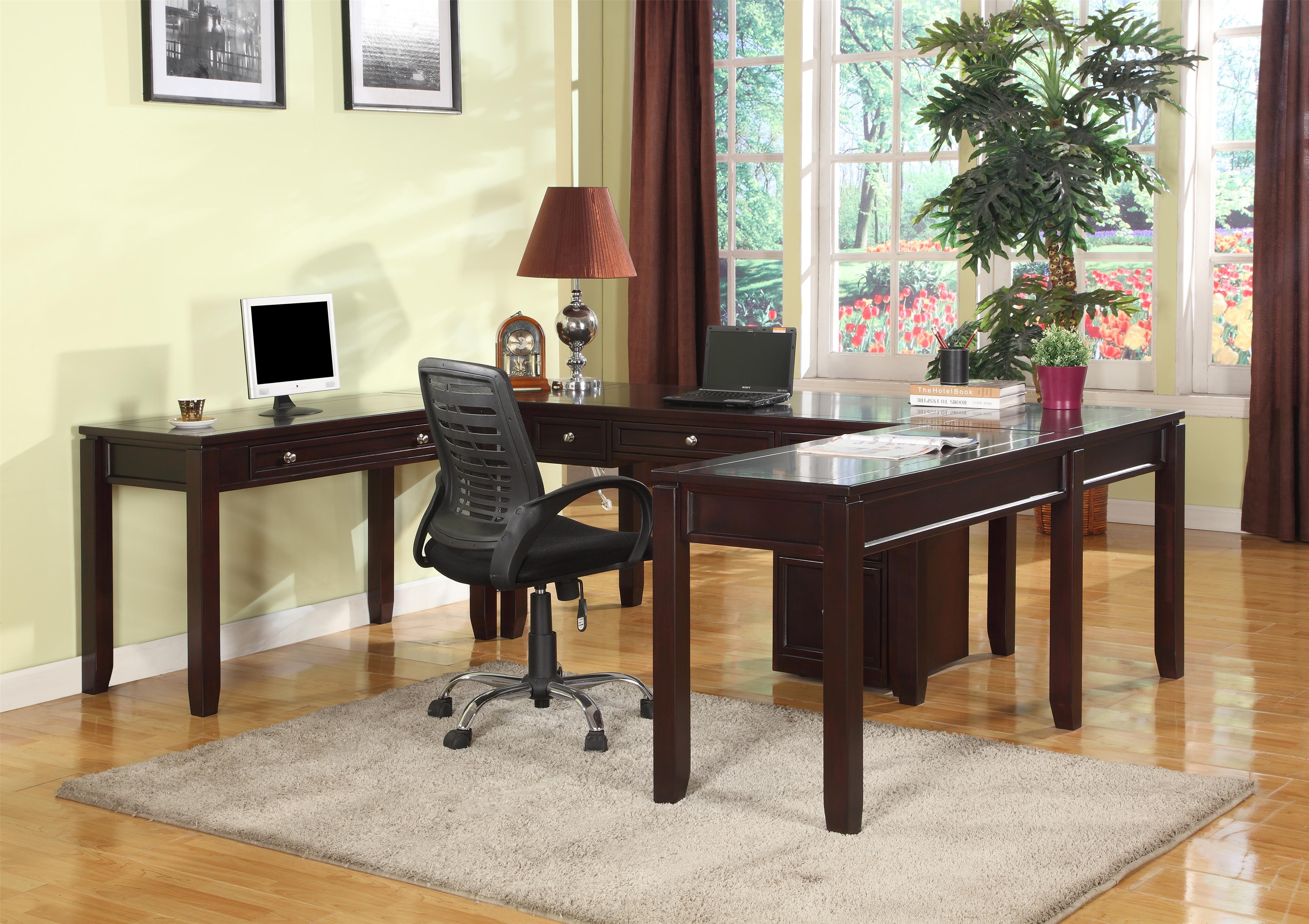 Parker House Boston Five-Piece U-Shaped Desk - Item Number: BOS-357D+2x347D+2x370