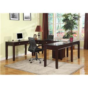 Parker House Boston Five-Piece U-Shaped Desk