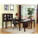 Parker House Boston Five-Piece U-Shaped Desk with 5 Drawers  - Shown with Hutch and Rolling File