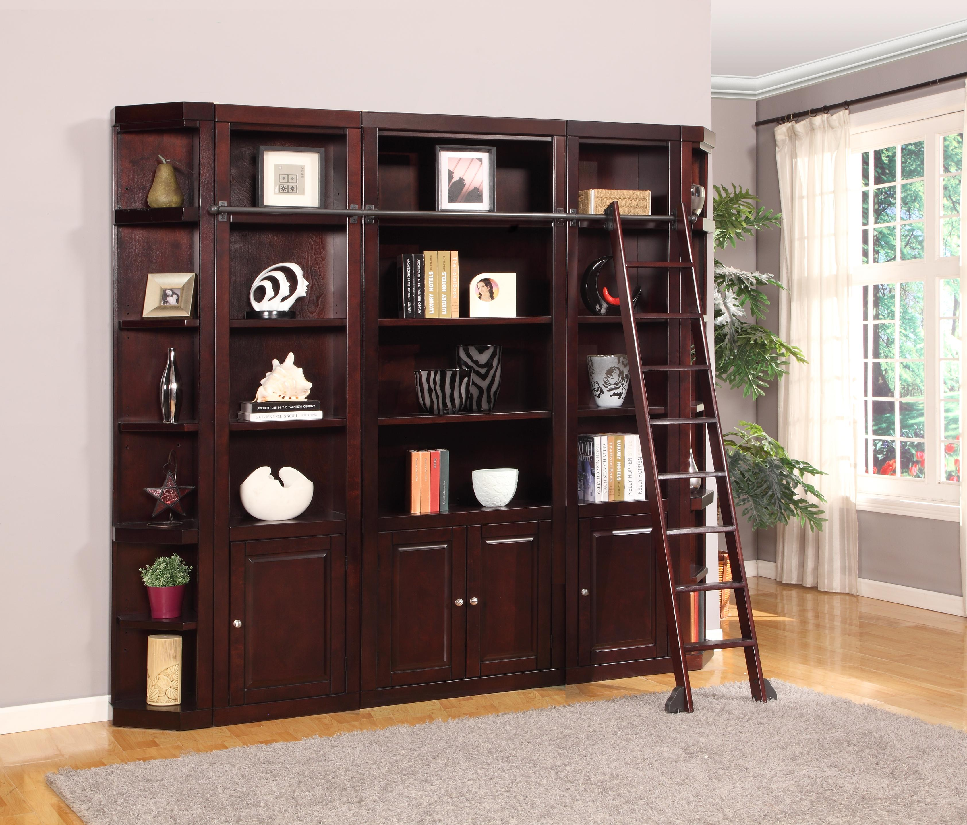 Parker House Boston Five-Piece Library Wall Unit - Item Number: BOS-430+2x420+2x450