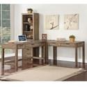 Parker House Brighton 3 Pc L-Shaped Desk - Item Number: BRI-3-DESK