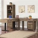 Parker House Brighton 3 Pc L-Shaped Desk - Item Number: BRI-L48