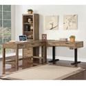 Parker House Brighton 3 Pc L-Shaped Desk - Item Number: BRI-L60