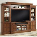 Parker House Churchill 4 Piece Entertainment Wall - Item Number: CHU-162-4