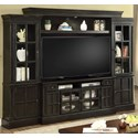 Parker House Concord 4 Piece Entertainment Wall - Item Number: CON-162-4