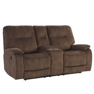 SHADOW BROWN Manual Console Loveseat