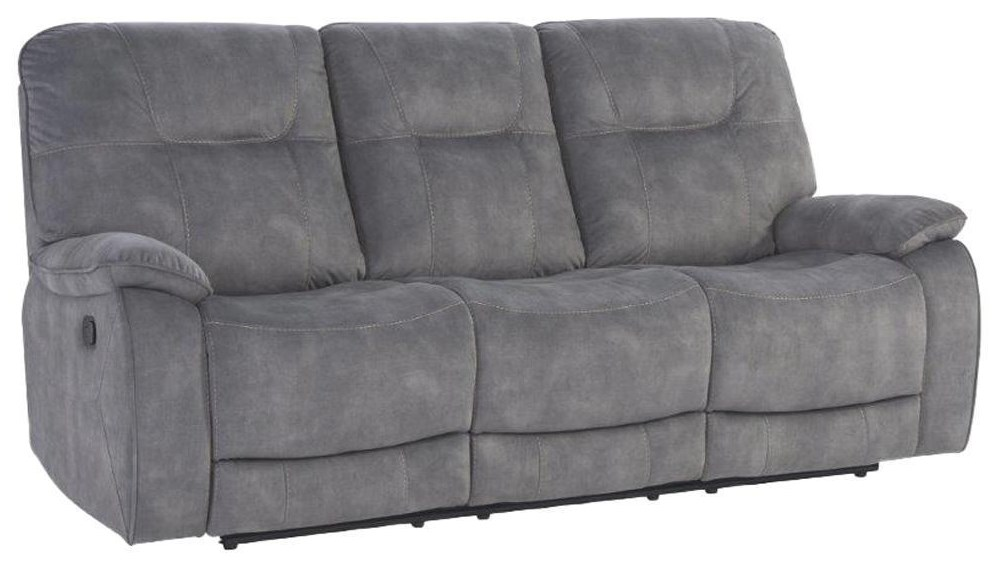 Cooper SHADOW GREY Manual Triple Reclining Sofa by Parker House at Johnny Janosik