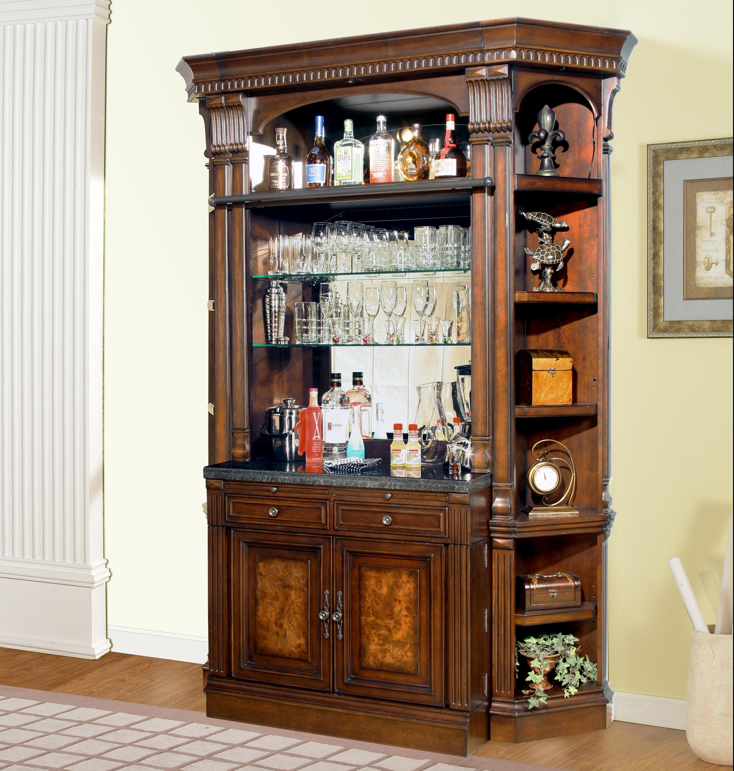 Parker House Corsica Bar Base and Hutch - Item Number: COR 466B+465H+2x450