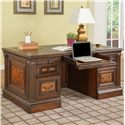 Parker House Corsica Double Pedestal Executive Desk - Item Number: COR 480-3