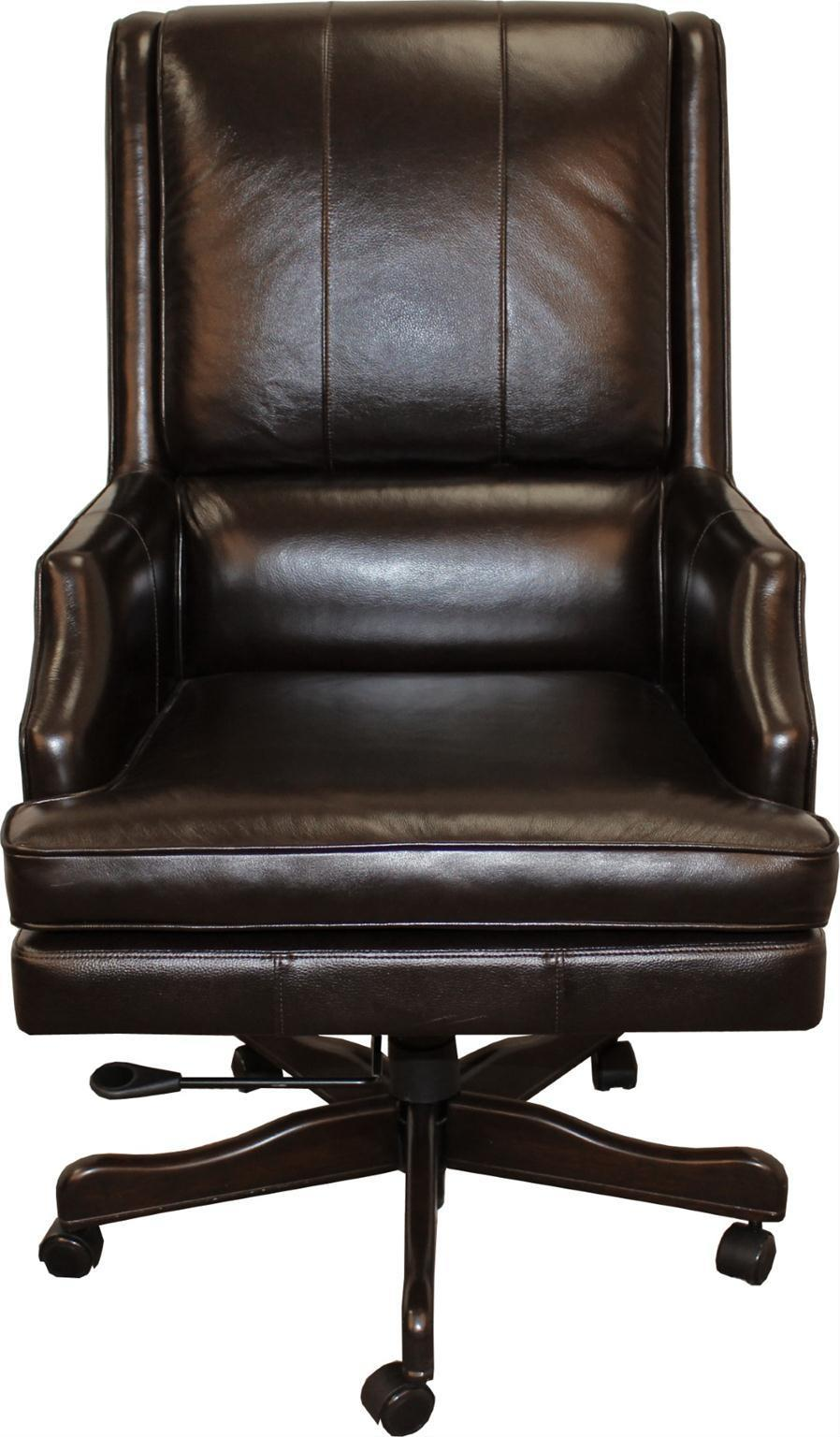Easton Leather Desk Chair by Parker House at Morris Home
