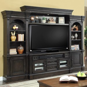 Parker Scott Forest Hill 4 Piece Entertainment Wall