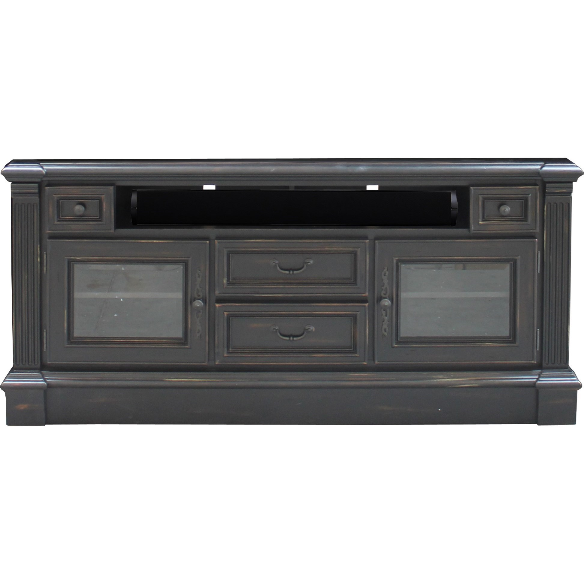 Parker house fairbanks fai 63 65 tv console with carved for Furniture fairbanks