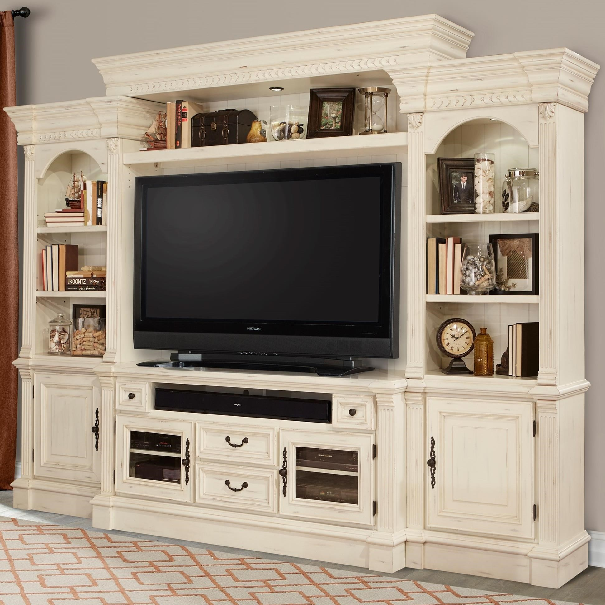 Parker House Fremont 4 Piece Entertainment Wall With Pier Cabinets | Godby  Home Furnishings | Wall Unit Noblesville, Carmel, Avon, Indianapolis,  Indiana