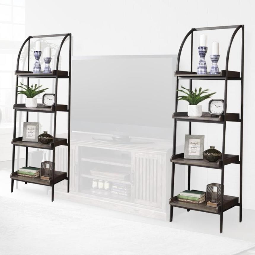 Pair of Etagere Bookcase Piers