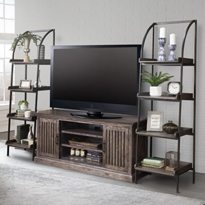 Console with Bookcase Piers