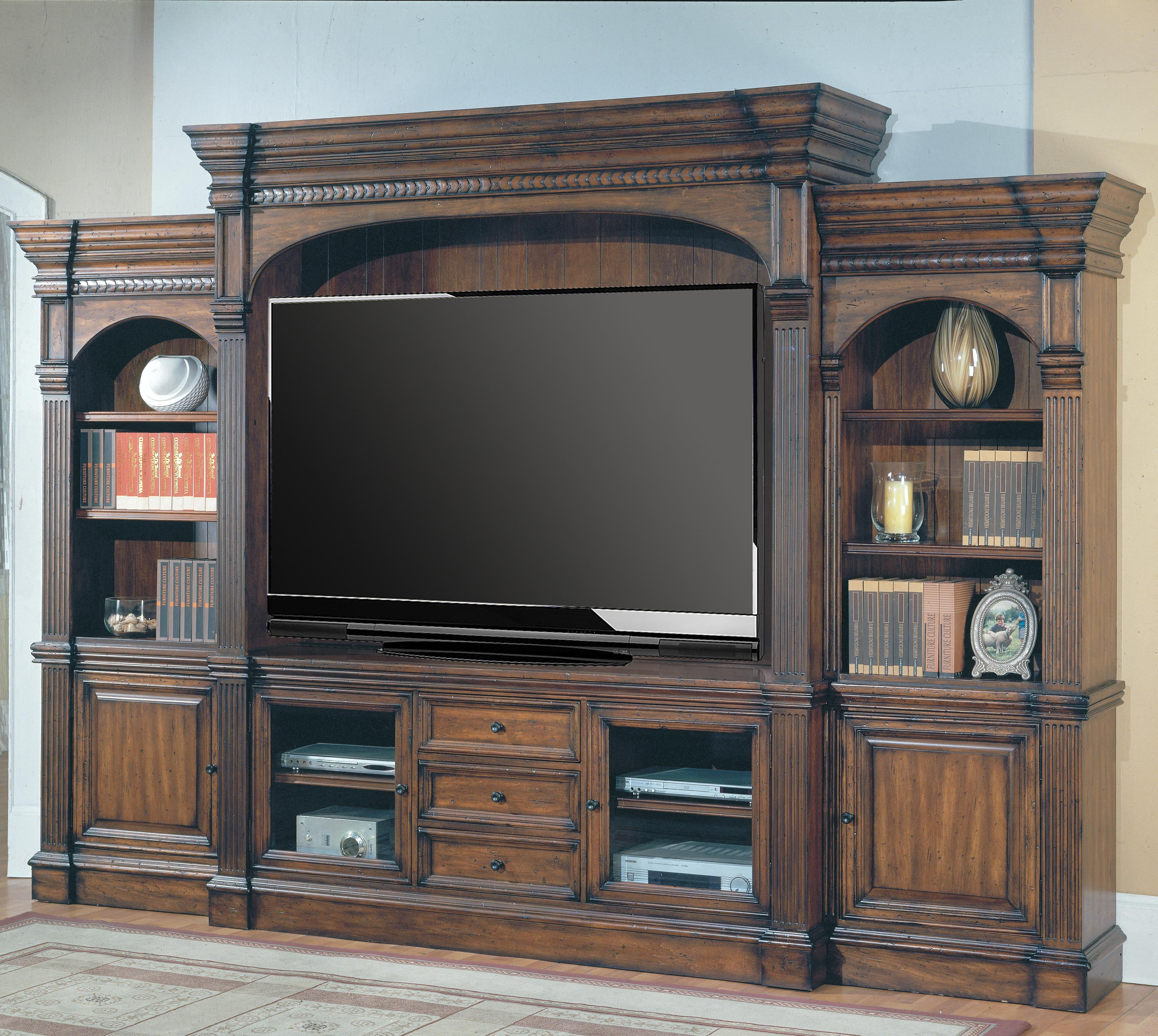 Parker House Genoa Traditional 5-Piece Entertainment Center - Item Number: GEN 610-5WS