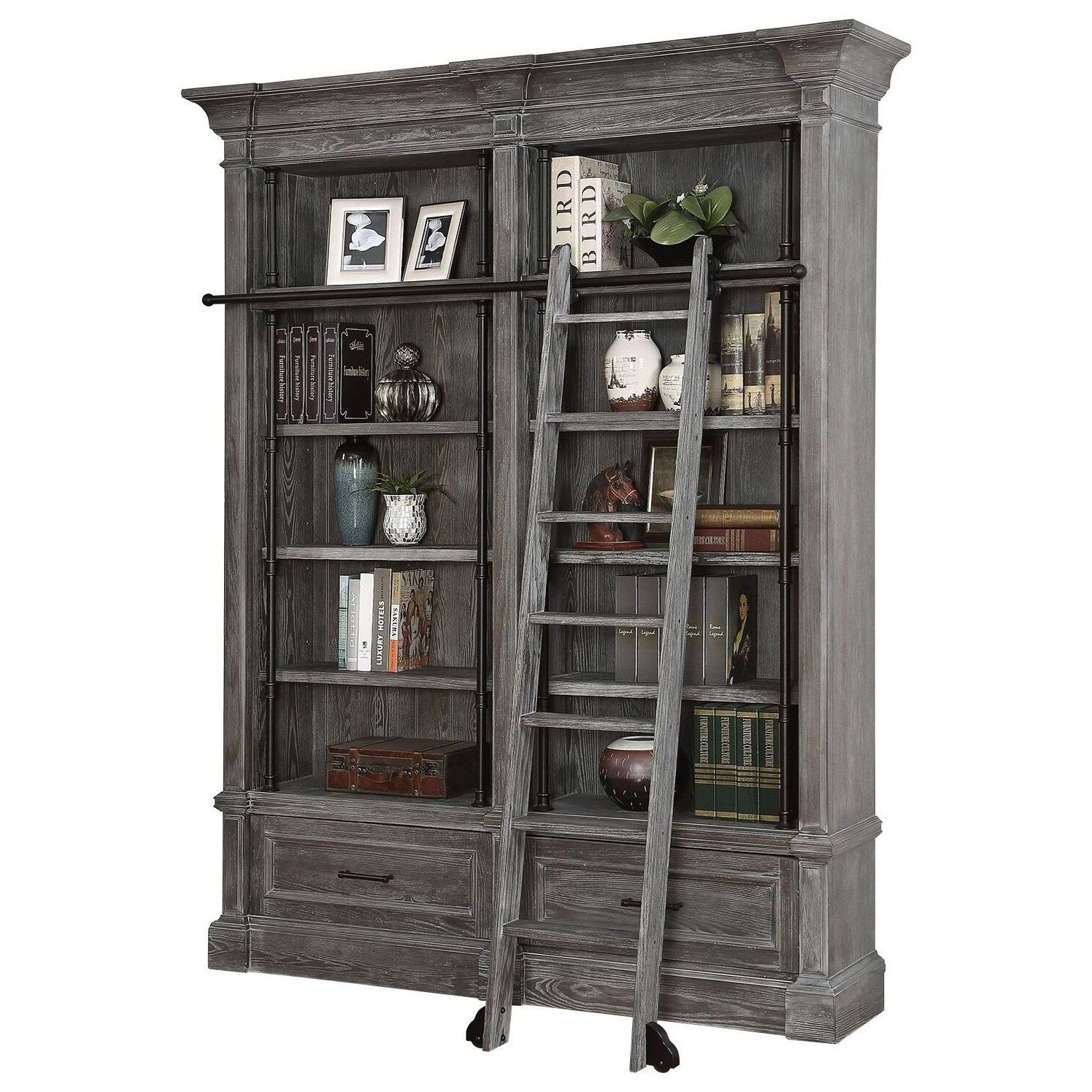 2 Piece Museum Bookcase Set