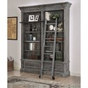 Parker House Gramercy Park Relaxed Vintage 2 Piece Museum Bookcase Set with Ladder
