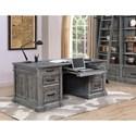Parker House Gramercy Park Relaxed Vintage Double Pedestal Executive Desk