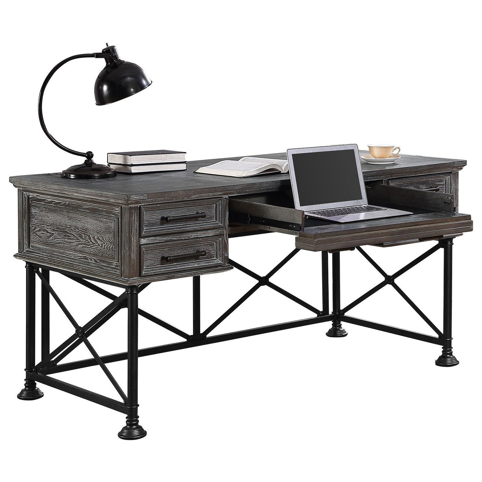 overstock free garden today gray lacquer desk writing donald shipping home product