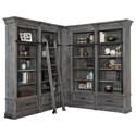 Parker House Gramercy Park 6 Piece Museum Bookcase Unit - Item Number: GRAM9056+2x9030+2x9031+9095
