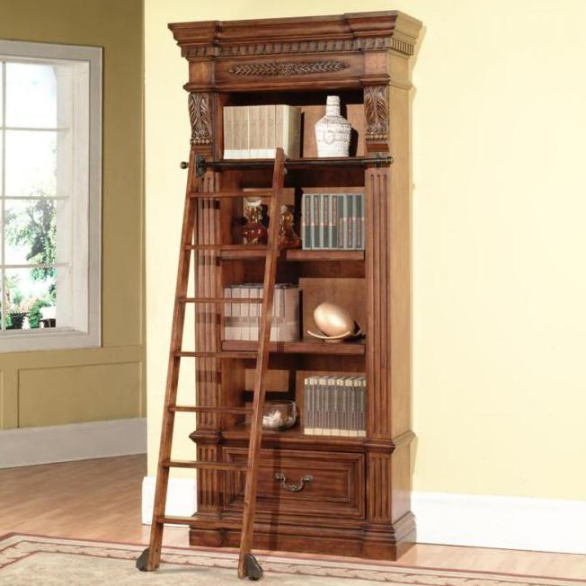 Parker House Granada Bookcase and Ladder - Item Number: GGRA 9030+9095
