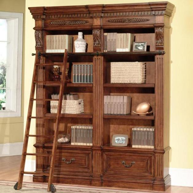 Parker House Granada 2 Bookcases and Ladder - Item Number: GGRA 9030-2