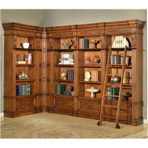 Parker House Granada 6 Piece Museum Corner Bookcase Unit
