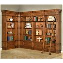 Parker House Granada 6 Piece Museum Corner Bookcase Unit with Ladder - GGRA 9056+2x9030+2x9031+9095