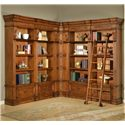 Parker House Granada 6 Piece Museum Corner Bookcase Unit with Ladder - GGRA 9056+2x9030+2x9031+9095 - Bookcase Can Also Be Arranged into Symmetrical Formation