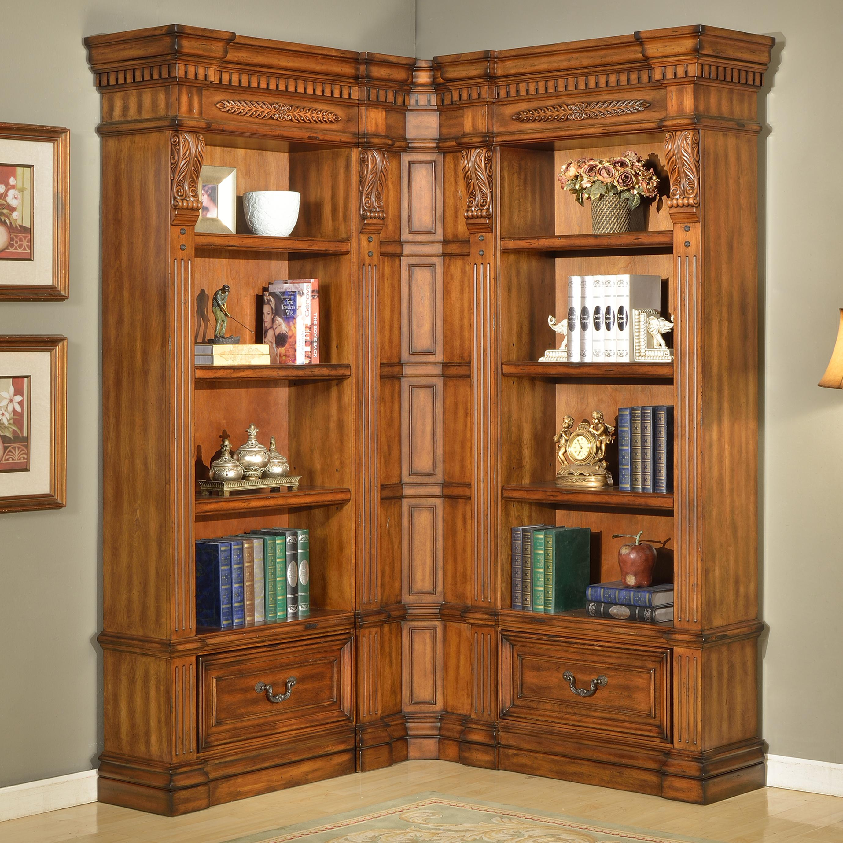 Parker House Granada 3 Piece Museum Bookcase Wall - Item Number: GGRA 9056+2x9030