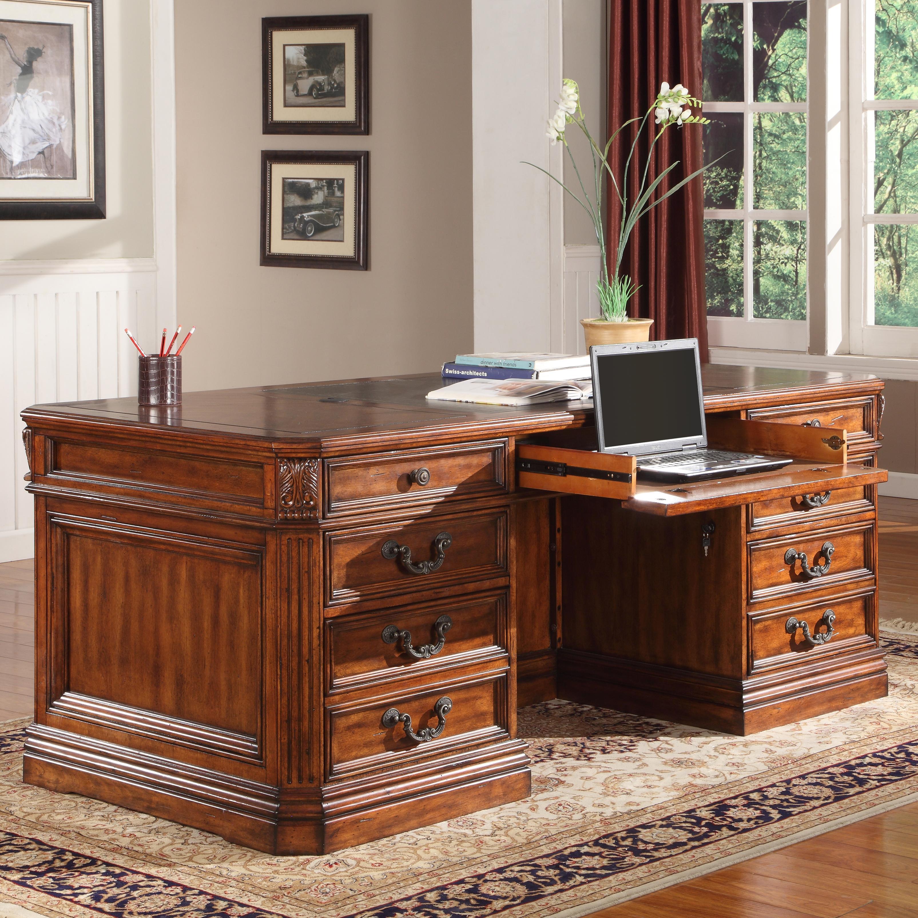 Parker House Granada Executive Desk - Item Number: GGRA9080-3