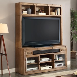 "Parker House Hickory Creek 63"" TV Console and Hutch Set"