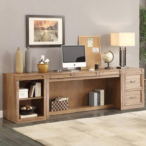 Parker House Hickory Creek 3 Piece Desk and Storage Set