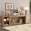 Parker House Hickory Creek 3 Piece Desk and Storage Set - Item Number: HIC-3-DESK