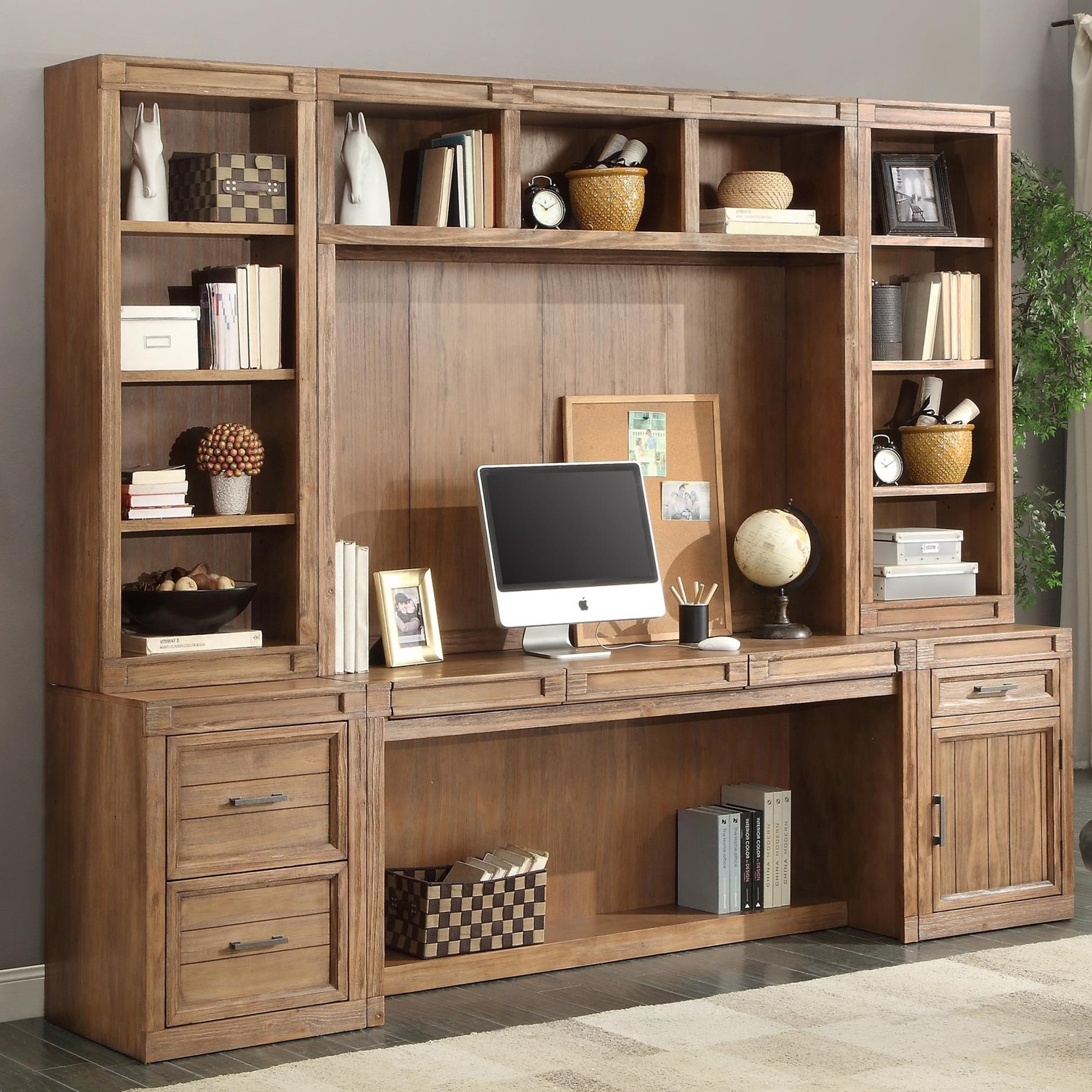 Parker House Hickory Creek 6 Piece Desk and Hutch Set - Item Number: HIC-6-OFFICE