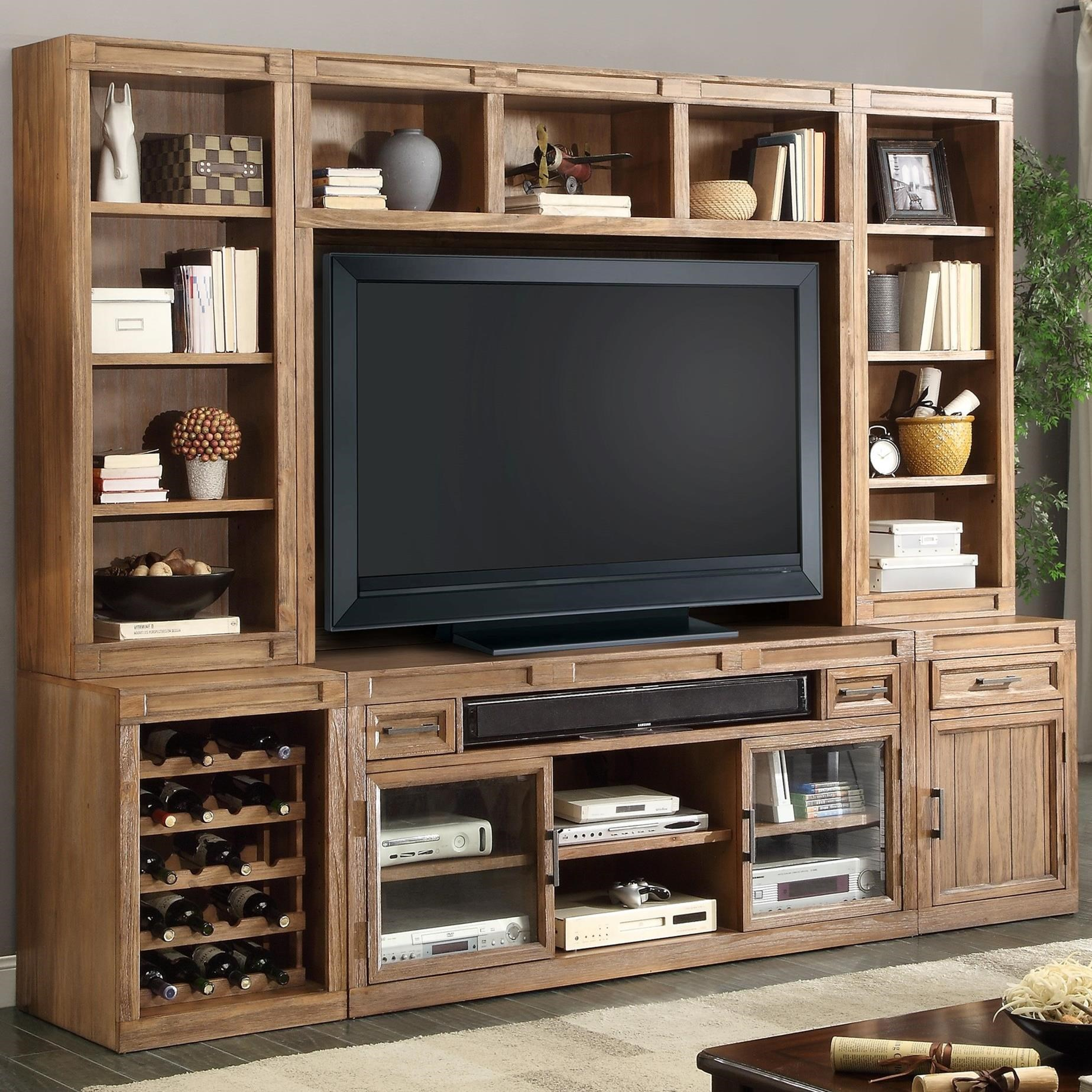 Parker House Hickory Creek 6 Piece TV Console Set - Item Number: HIC-6-TV