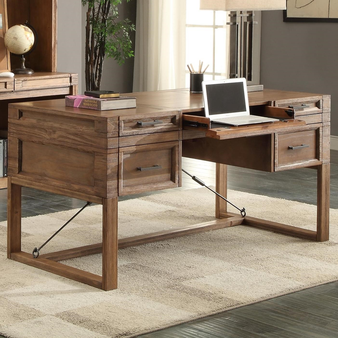 "Parker House Hickory Creek 60"" Writing Desk with Power Center - Item Number: HIC-985"