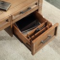 Parker House Hickory Creek Writing Desk with Flip Top Charging Drawer