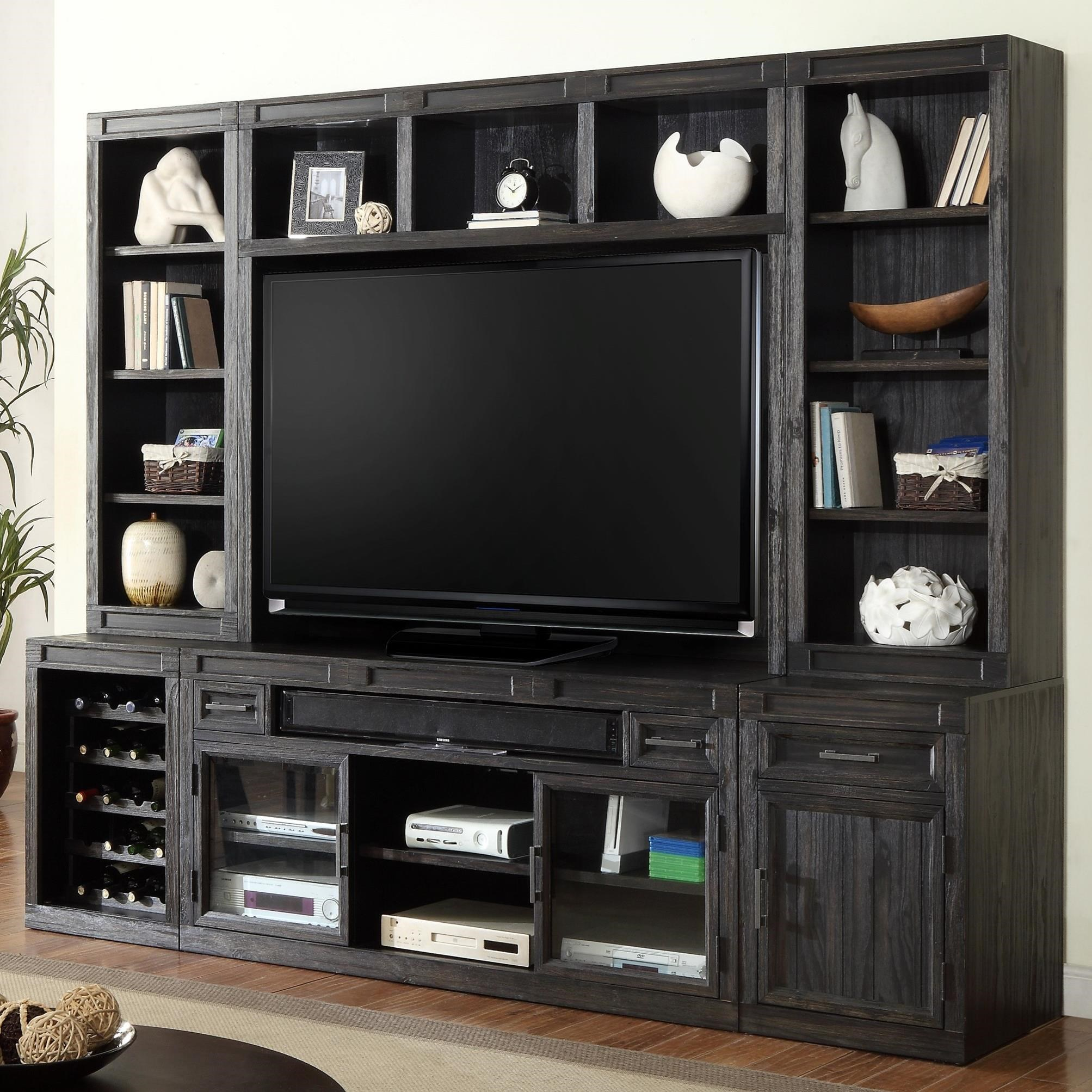 Parker House Hudson 6 Piece TV Console Set - Item Number: HUD-6-TV