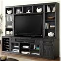 Parker House Hudson 6PC TV Console with Bookcase Storage - Item Number: HUD-912-6PC