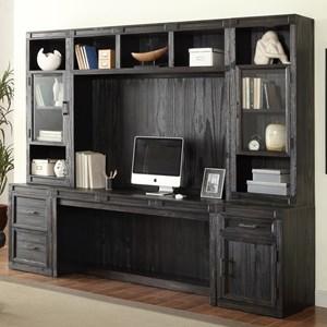 Parker House Hudson 6 Piece Desk and Hutch Set