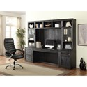 Parker House Hudson Desk Cabinet with Hidden Felt-lined Storage - Desk Cabinet Shown with Desk and Hutch Set