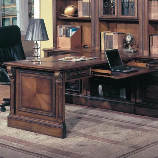 Parker House Huntington Peninsula Desk - Item Number: HUN 500+505