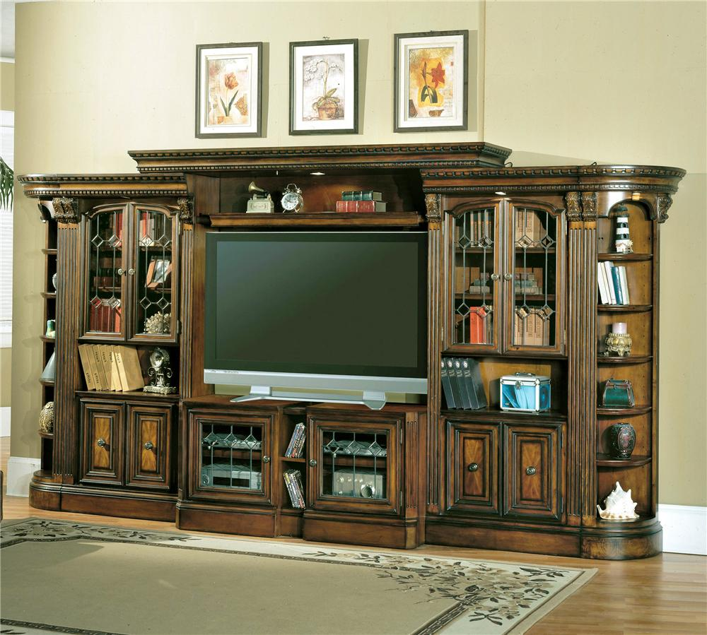 Lovely Parker House Huntington Glass Door Entertainment Wall Unit   Item Number:  Hun GDEC