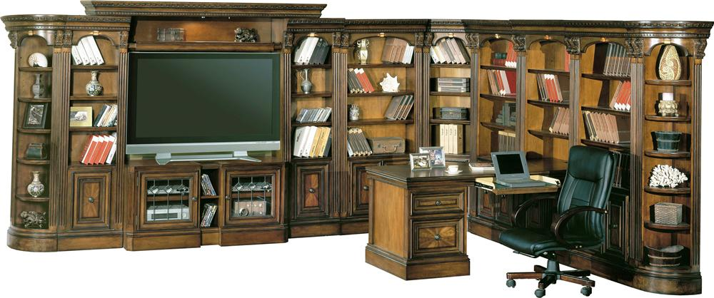 Parker House Huntington Home Office And Entertainment Center Wall System