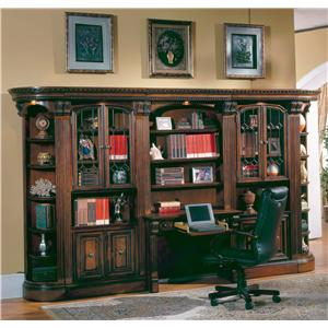 Huntington Large Bookcase Desk and Hutch by Parker House